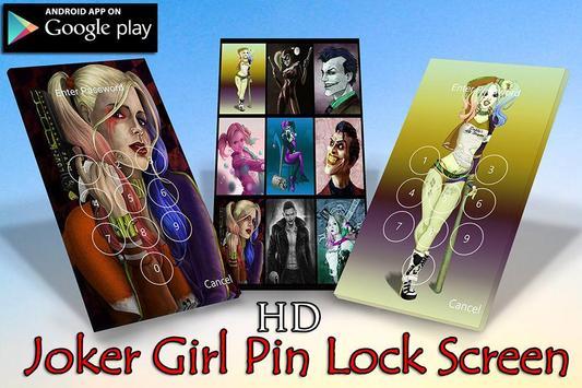Harley Quin Lock Sreen HD poster
