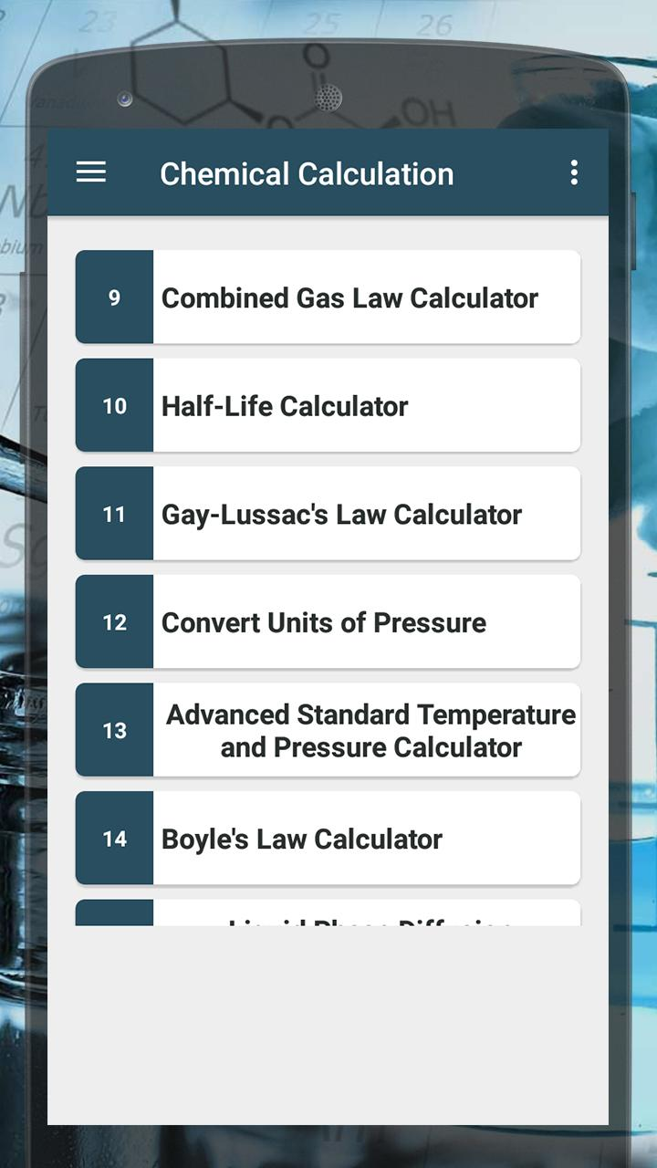 Chemistry Calculator for Android - APK Download