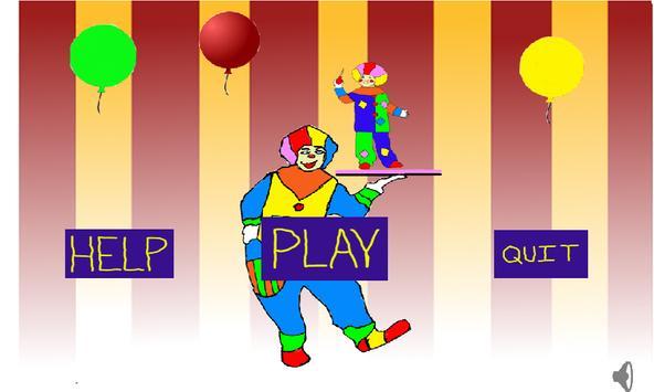 Clown Balloon Pop poster