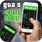 Cheats for GTA 5 - cell phone icon