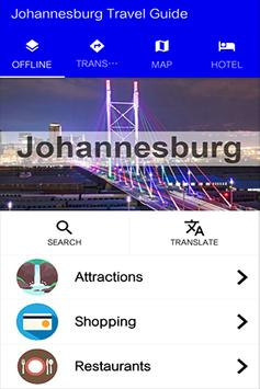 Johannesburg Travel Guide poster
