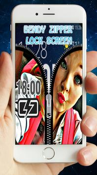 Zipper lock screen for Jojo Siwa apk screenshot