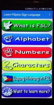 Filipino Sign Language screenshot 1