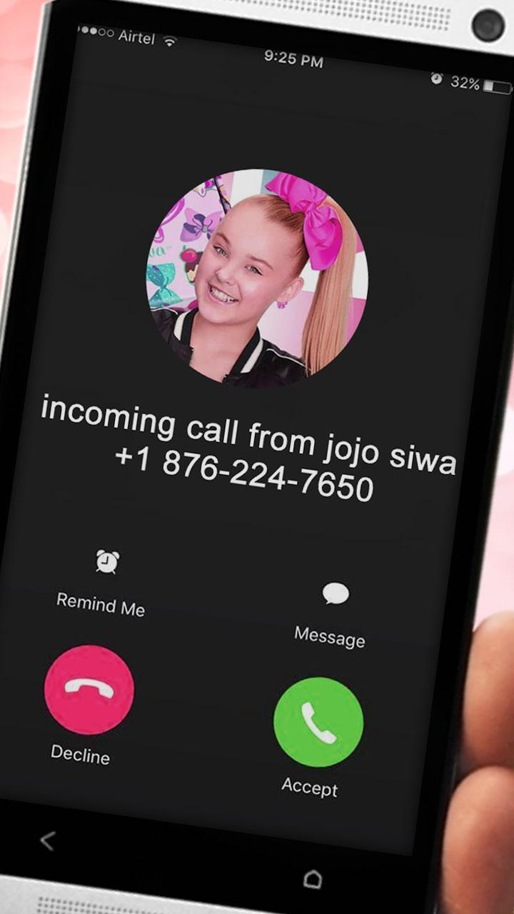 Live Call From Jojo Siwa Fake Phone Call Prank For Android