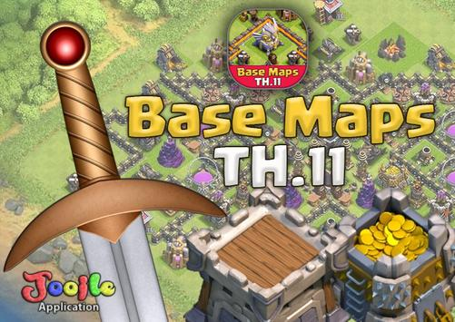 Base Maps TH11 COC poster