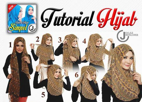 Tutorial Hijab 2018 Simple poster