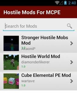 Hostile Mods For MCPE screenshot 1