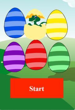 dino egg tap poster
