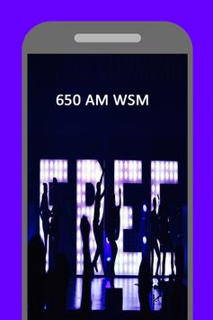 Radio for 650 AM WSM  Station Country Music screenshot 1