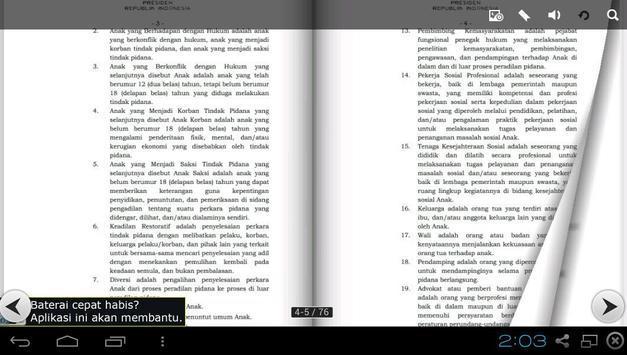 UU Sistem Peradilan Anak apk screenshot