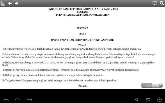 Pokok Materi Hukum Agraria apk screenshot