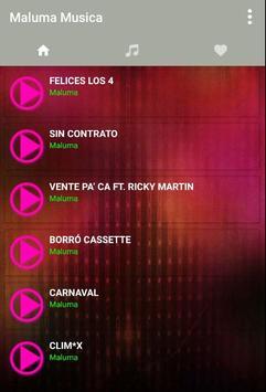Musica de Maluma + Reggaeton Mix 2017 Letras screenshot 1