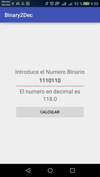 Binary2Dec apk screenshot