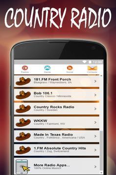 Country Music Radio Stations screenshot 1