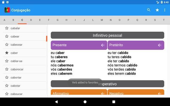 Conjugação português apk screenshot