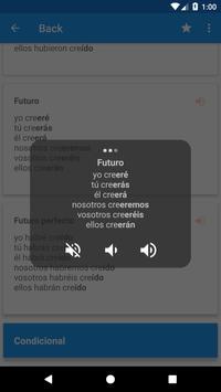 Conjugación española apk screenshot