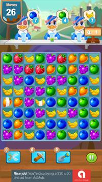 Candy and Fruits Juice Smach - Best Match 3 Game screenshot 23