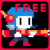 Christmas pixel platformer icon