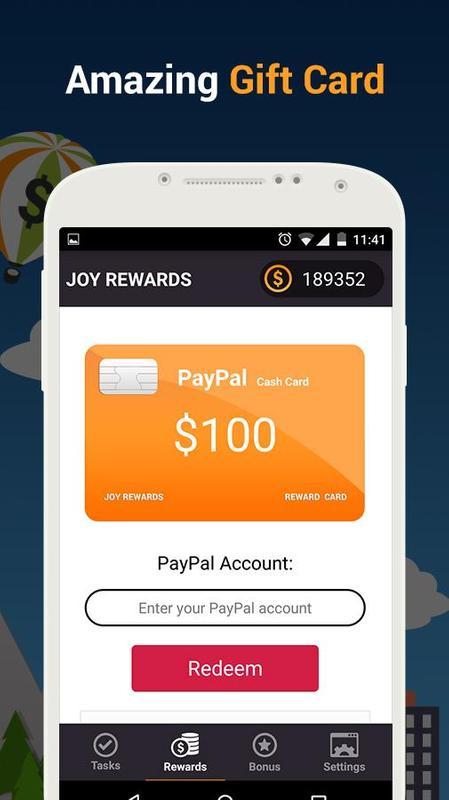 joy rewards free gift cards apk screenshot - Free Gift Card Rewards