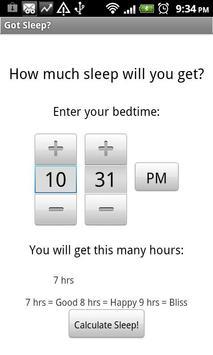GotSleep? Test screenshot 1
