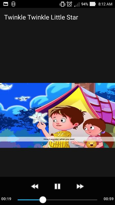 Twinkle Little Star Nursery Rhyme Lyrics Apk Screenshot