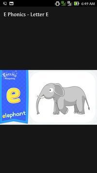 E Phonics Letter Alphabet Song screenshot 1