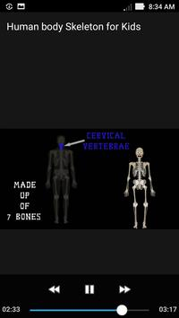 Human Body Skeleton Kids Song screenshot 1