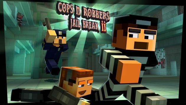 Cops N Robbers: Pixel Prison Games 2 पोस्टर