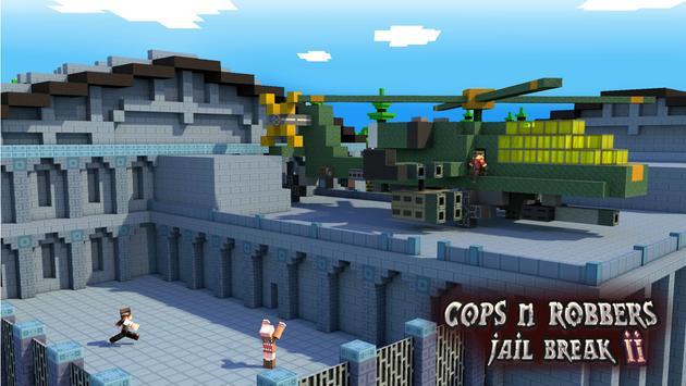 Cops N Robbers: Pixel Prison Games 2 स्क्रीनशॉट 1