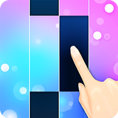 Piano White Go! - Magic World on Music Tiles أيقونة