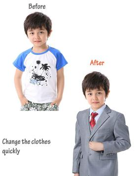 Suit Photo Montage for Kid poster