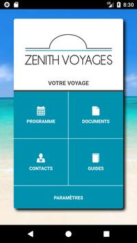 Zénith Voyages poster
