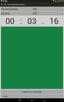 Rubik's Cube Algorithms, Timer screenshot 11
