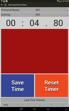 Rubik's Cube Algorithms, Timer screenshot 14