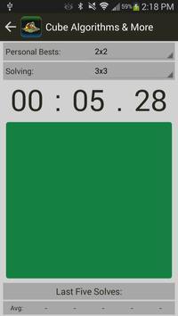 Rubik's Cube Algorithms, Timer screenshot 7