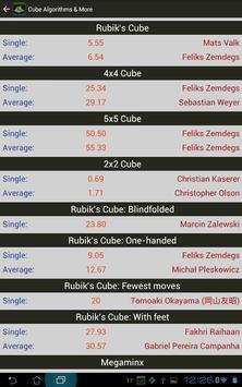 Rubik's Cube Algorithms, Timer screenshot 9