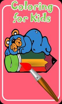Cartoon Kid Coloring Book App Apk Screenshot