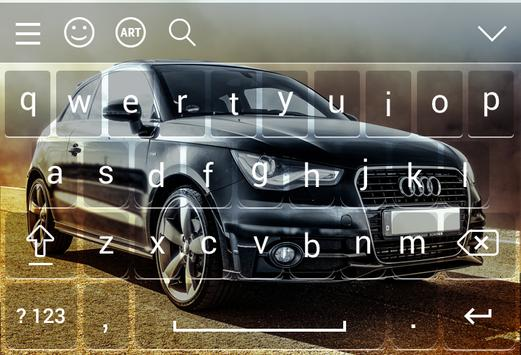 Keyboard For Audi Theme apk screenshot