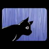 Cat in the rain icon