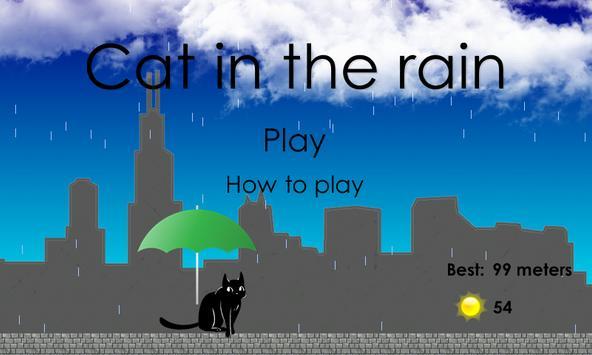Cat in the rain poster