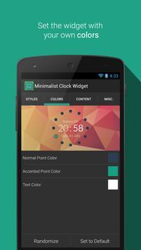 Minimalist Clock Widget screenshot 1