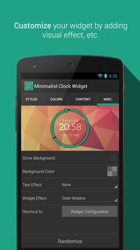 Minimalist Clock Widget screenshot 3