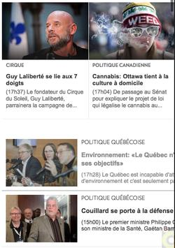 Journaux du Canada screenshot 1