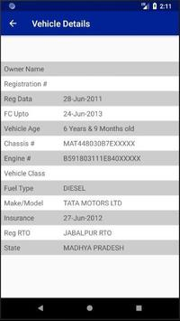MP RTO Vehicle Owner Details screenshot 1