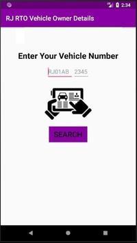 RJ RTO Vehicle Owner Details poster