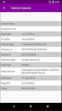RJ RTO Vehicle Owner Details screenshot 1