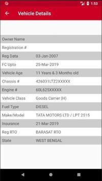 WB RTO Vehicle Owner Details screenshot 1