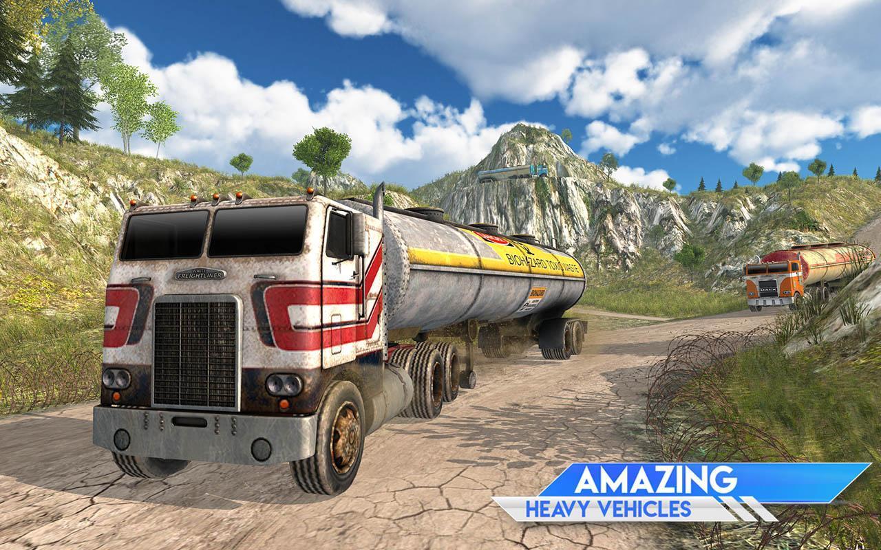 Oil Tanker Truck Transporter Simulator: Hill Cargo for