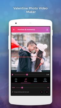 Valentine Photo Video Maker screenshot 1