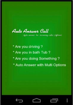 Auto Answer Call poster